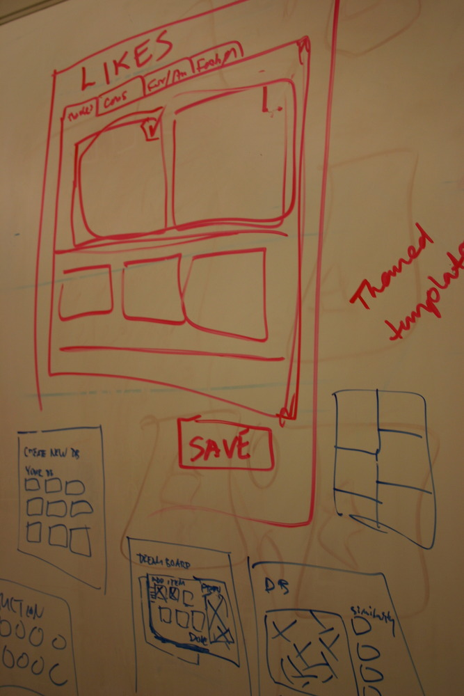 Paper Prototyping for web: A Pinterest-y feature