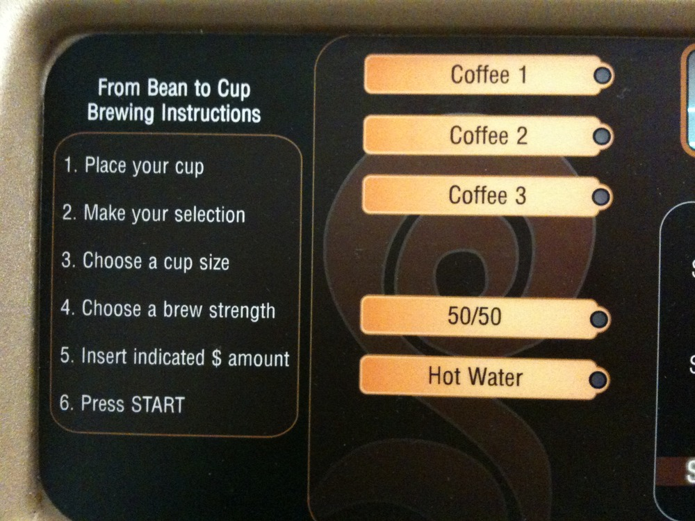 Confusing Coffee Consumers in offices across the world: Coffee Machine UI